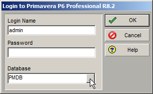 Primavera P6 Database Connection Configuration Details