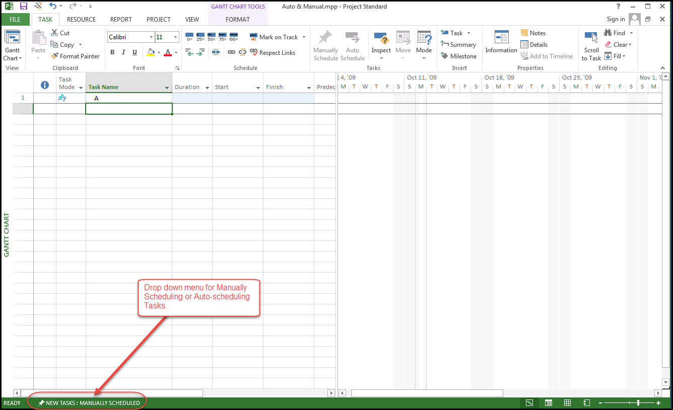 auto manual schedule task entry in microsoft project 2013 rh tensix com ms project 2010 manual vs automatic scheduling Automatic Transmission