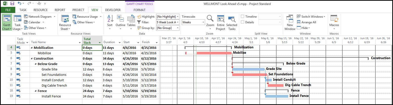 Microsoft Project Look Ahead Filter Fig 16
