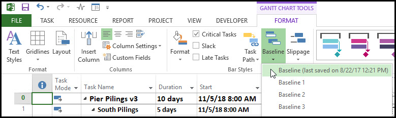 using microsoft project for earned value management