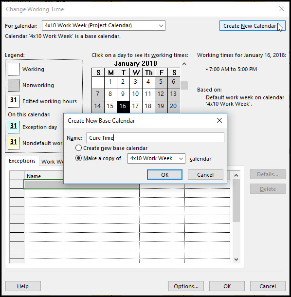 How to Assign a Task Calendar in Microsoft Project Fig 5