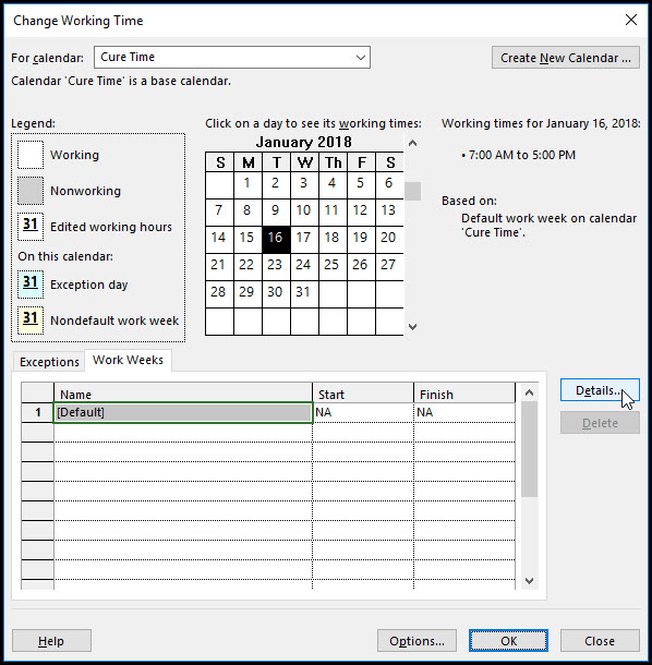 How to Assign a Task Calendar in Microsoft Project Fig