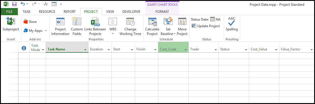 Import Microsoft Excel XLS and XLSX Data File into Microsoft Project 10
