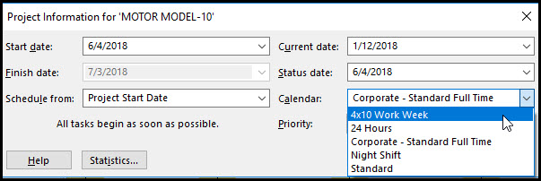 How to Share a Calendar Between Schedules in Microsoft Project Fig 7