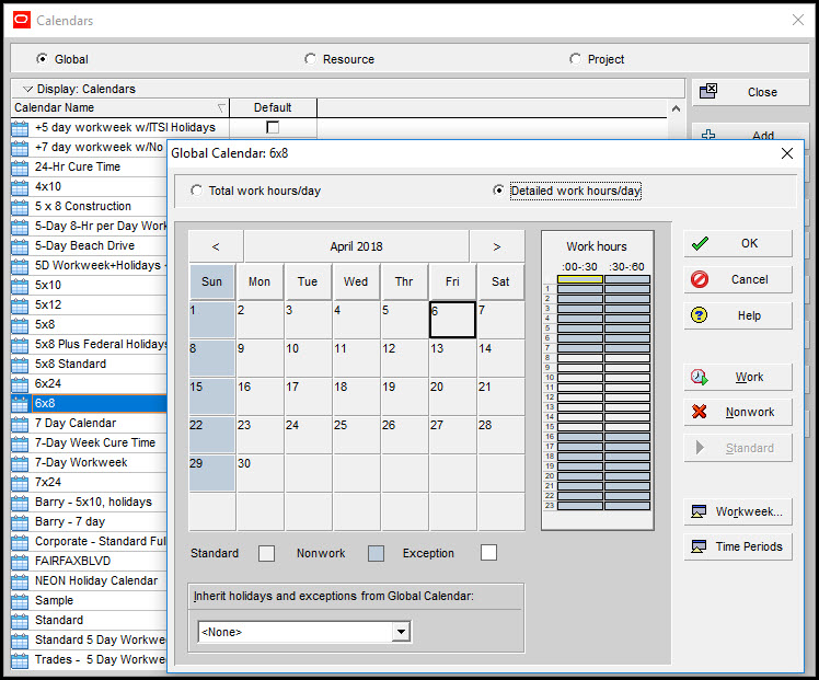 Using Multiple Calendars in Primavera P6 Fig 2