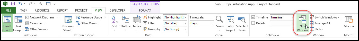 Using a Microsoft Project Temporary Master Schedule for External Dependencies 1