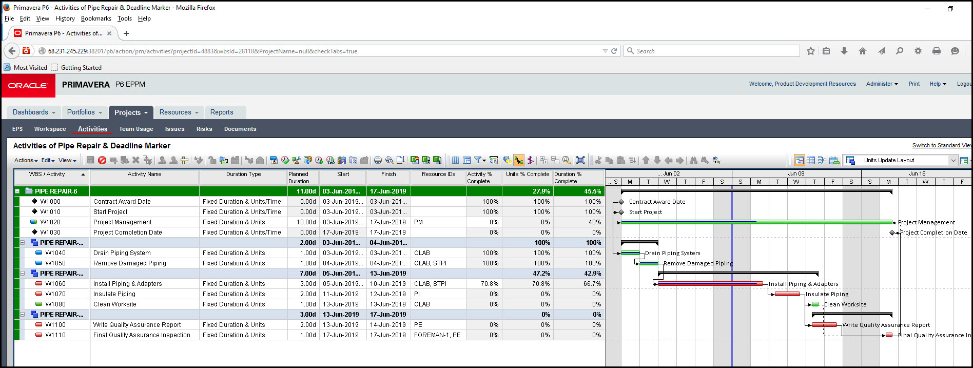 Tracking Activities with Multiple Resources In Primavera P6 EPPM Fig 9