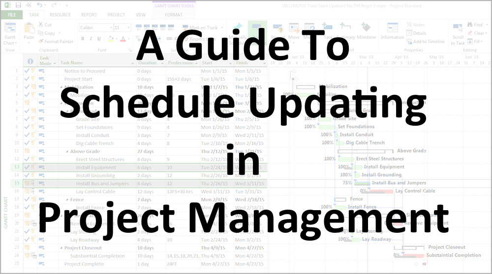 A Guide To Schedule Updating in Project Management