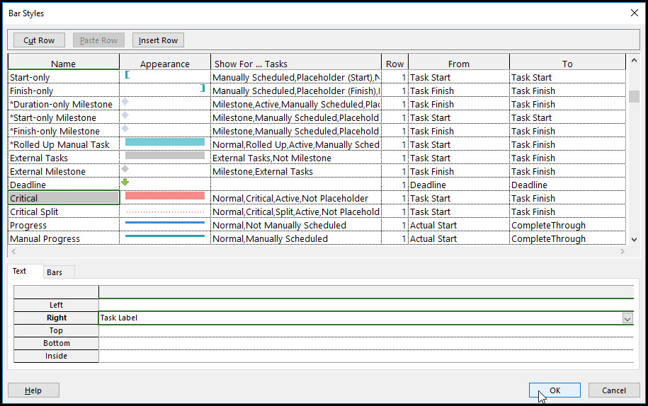 Task Bar Labels Using Multiple Fields In Microsoft Project Fig 11