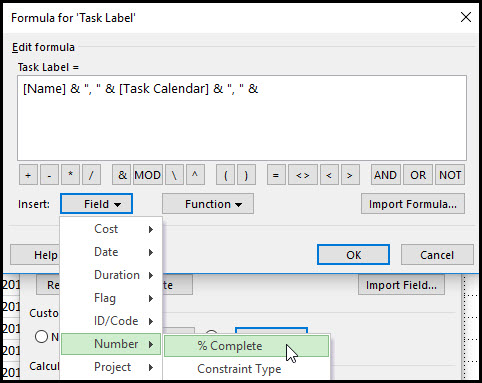 Task Bar Labels Using Multiple Fields In Microsoft Project Fig 7