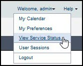View Service Status in P6 EPPM
