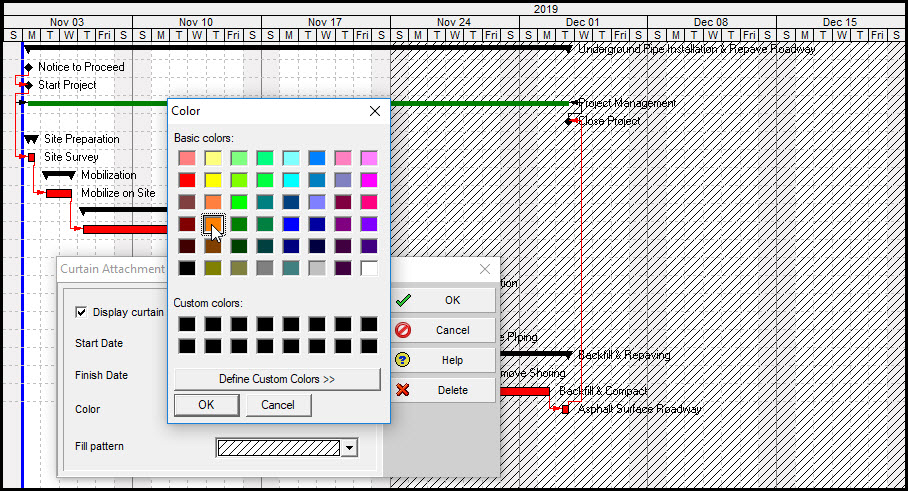 Color Time Periods on the P6 Gantt Chart
