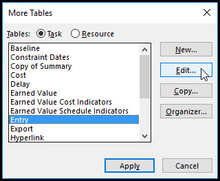 Adjust the Row Height in Microsoft Project