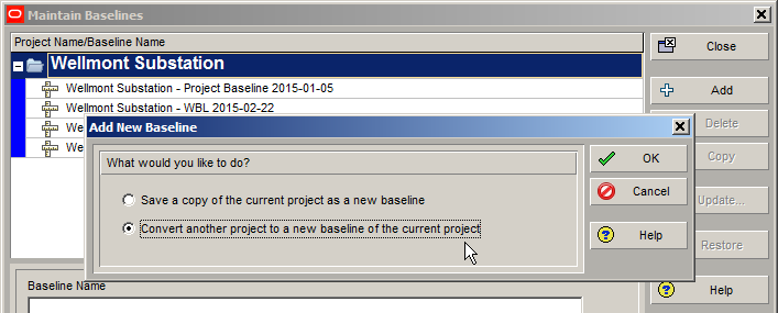 Convert Another Project To A Baseline