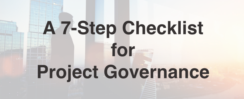 Checklist for Project Governance